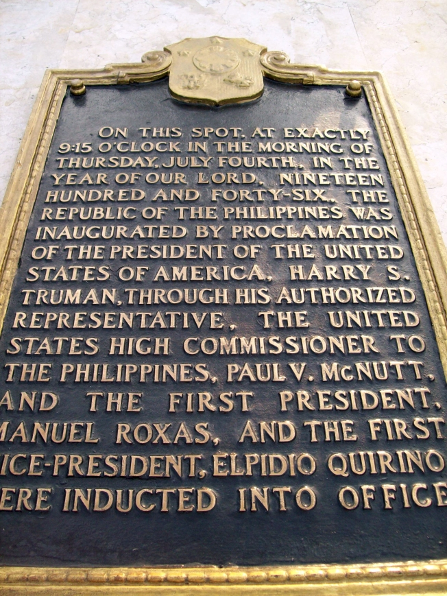 First-republic-inauguration-historical-marker