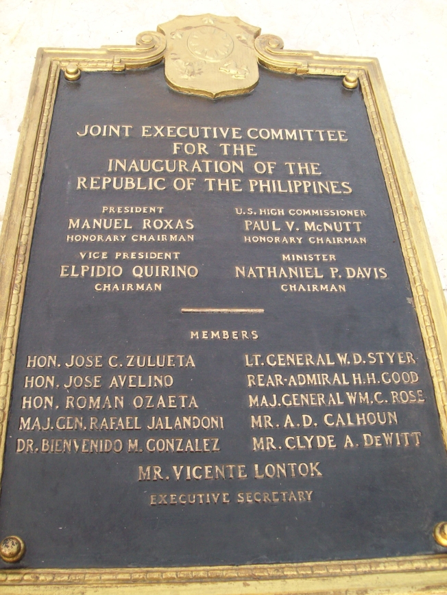 Joint Executive Committee plaque