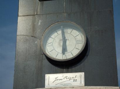 Bulova clock-east
