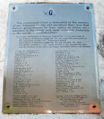 Masonry plaque