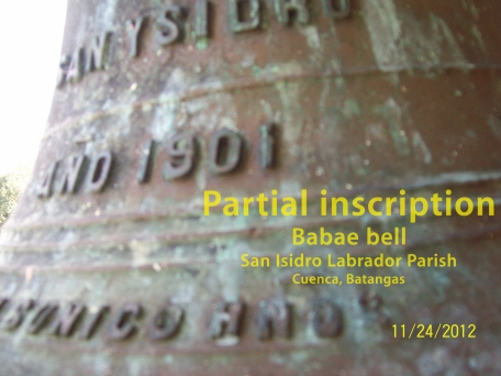 Babae bell-inscription