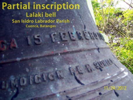 Lalaki bell-inscription