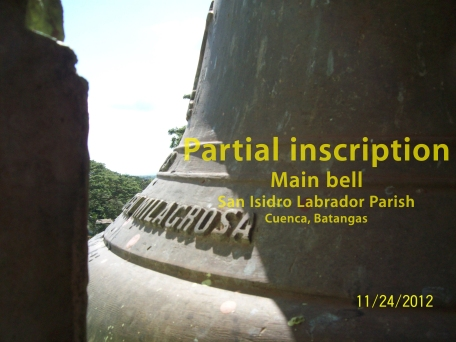Main bell-inscription